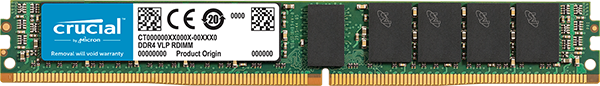 Crucial 16GB DDR4 2666MHz Single Rank Very Low Profile ECC Registered Dimm