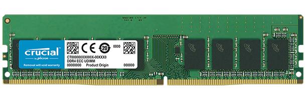 Crucial 16GB DDR4 2666MHz Dual Rank ECC Unbuffered Dimm