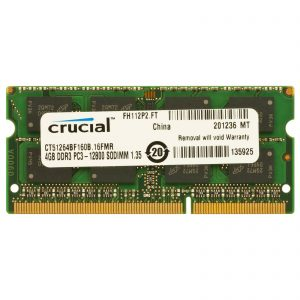 Crucial 4GB DDR3L 1600MHz SO-DIMM Single Rank