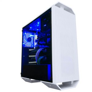 Raidmax Monster II Blue LED Tempered Glass Side (GPU 400mm) ATX Gaming Chassis White