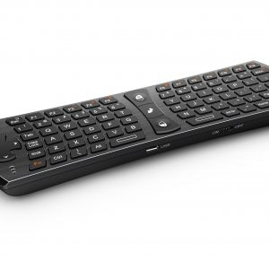 Rii Wireless QWERTY Air Mouse Dual-Sided Remote Keyboard Black