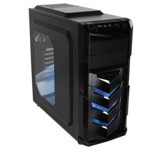 Raidmax Vortex V4 Window (GPU 390mm) ATX Gaming Chassis Black and Blue